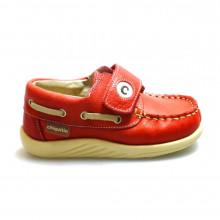Zapato náutico velcro rojo Outlet
