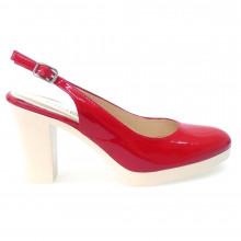 Zapatos Mujer Salones Peep_toes Hobby Sport 703 Rojo
