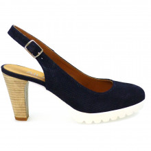 Zapatos Mujer Salones Peep_toes Hobby Sport 962 Azul