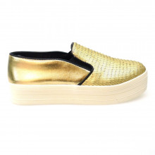 Zapatos Mujer Casual Sneakers Steve Madden Buhba Oro