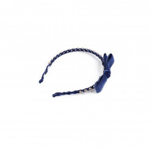 Diadema de terciopelo con lazo Twin Set 6A6AGK Azul