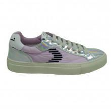 Sneakers mujer Voile Blanche Plata-lila Capri Dash