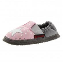 Zapatillas casa niña algodón estrellas Ading Rosa