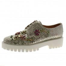 Zapato cordón cristales Pertini 181W14786D2 Gris